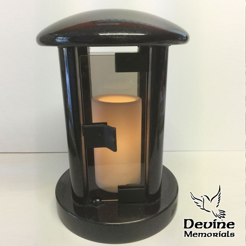 Contemporary Style Candle Lantern with Glass door