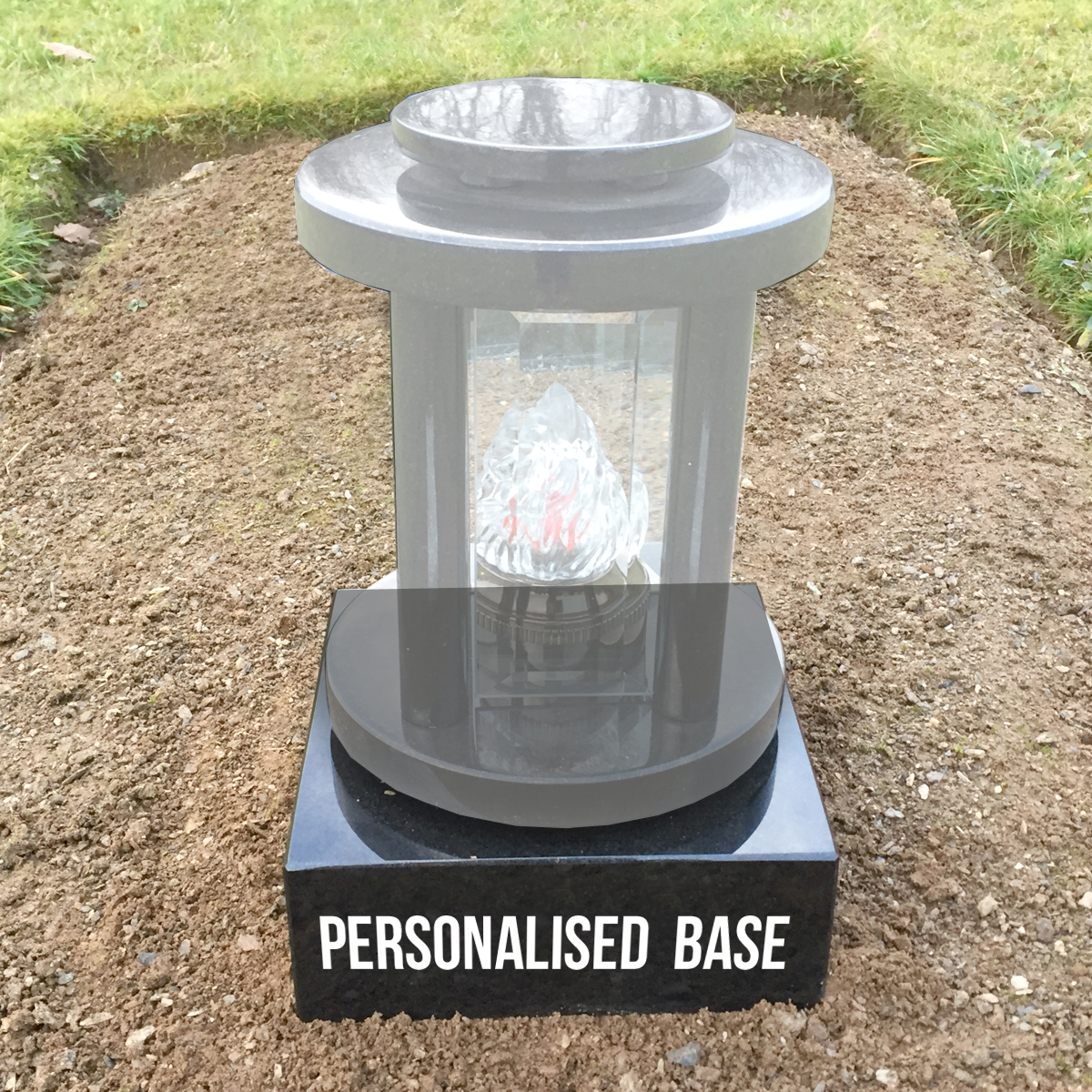 Personalised Granite Base Grave Accessories Ireland
